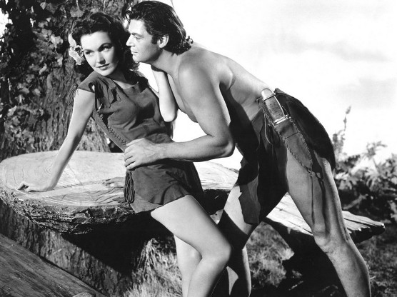 Johnny-Weissmuller-with-Maureen-OSullivan-in-Tarzans-Secret-Treasure-1941